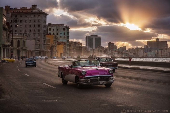 Malecon at Sunset habana Cuba