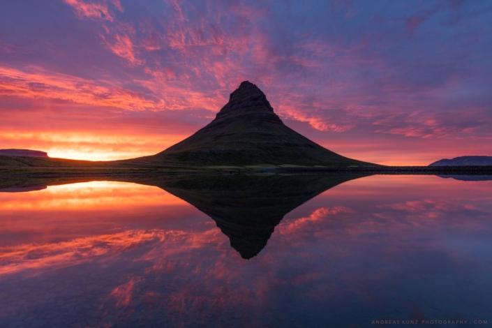 Iceland-Kirjufell-sunrise-reflection-Andreas-Kunz-Photography