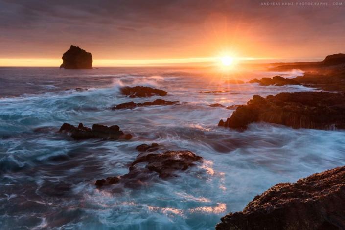 seascape Iceland Reykjanesviti beach sunset