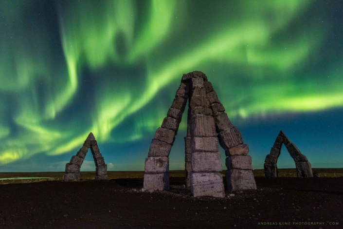 Iceland-arctic-henge-northern-lights-Andreas-Kunz-Photography
