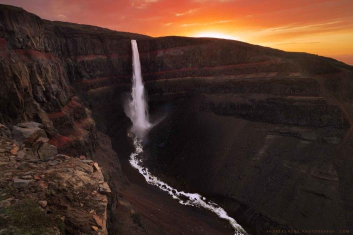 Iceland-hengifoss-at-sunrise-Andreas-Kunz-Photography