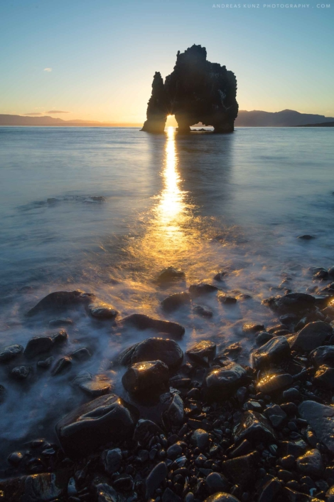 seascape hvitserkur-sunrise-vertical