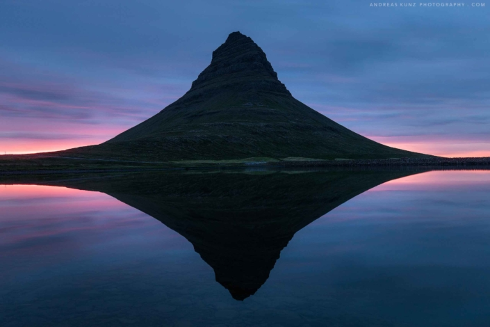 Iceland-kirkjufell-reflection-sunset-Andreas-Kunz-Photography