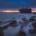Seascape shipwreck at sunset