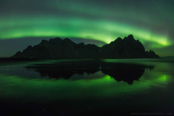 Iceland-stokksnes-beach-northern-lights-Andreas-Kunz-Photography