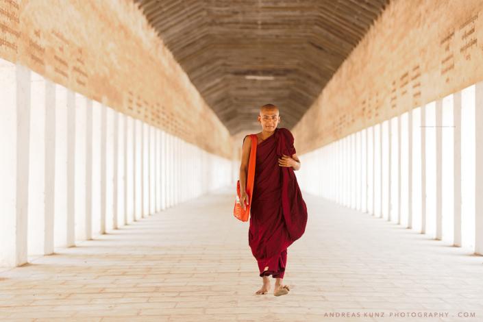 Monk Myanmar walkway