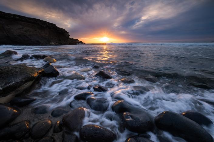 Sunset in La Pared Fuerteventura Seascape Spain