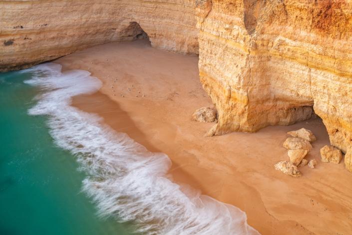 Seascape Portugal Algarve Birds Coast Orange Rocks Andreas Kunz Photography