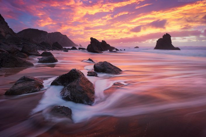 Seascape-Portugal-Praia-da-Adraga-Sunset-Andreas-Kunz-Photography-