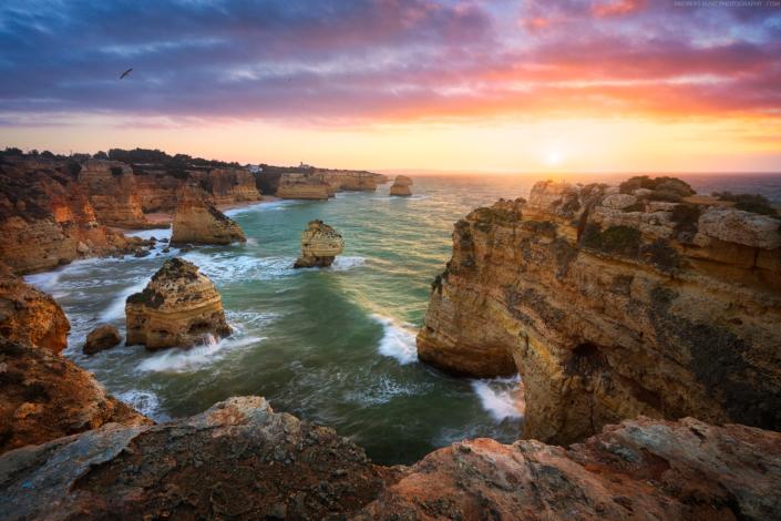 Seascape-Portugal-Praia-da-Marinha-Sunrise-Andreas-Kunz-Photography